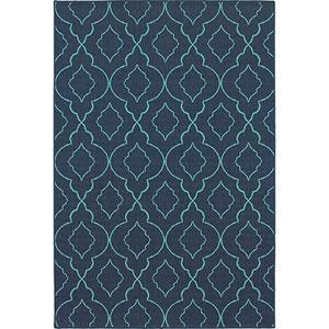 Meridian Navy and Blue Rectangular: 2 Ft. x 3 Ft. Rug