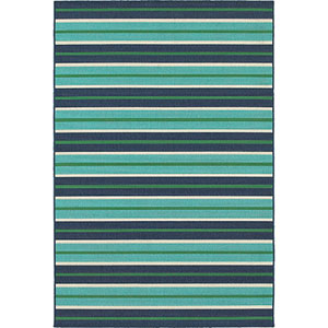 Meridian Blue and Green Rectangular: 2 Ft. x 3 Ft. Rug