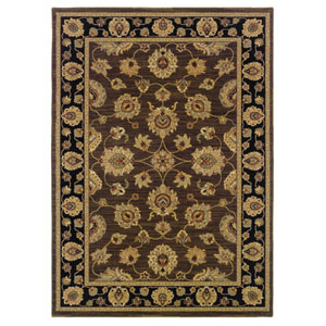 Nadira Black Rectangular: 5 ft. 7 in. x 7 ft. 1 in. Rug