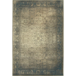 Pasha Blue Rectangular: 1 Ft. 10-Inch x 3 Ft.  Rug