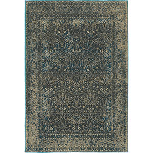 Pasha Navy Rectangular: 1 Ft. 10-Inch x 3 Ft.  Rug