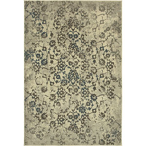 Pasha Beige and Gray Rectangular: 2 Ft. x 3 Ft. Rug