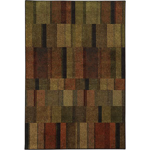 Parker Brown and Rust Rectangular: 2 Ft. x 3 Ft. Rug