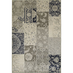 Richmond Ivory and Gray Rectangular: 6 Ft. x 9 Ft. Rug