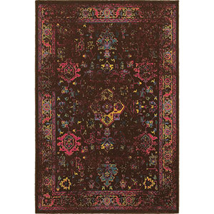 Revival Brown Rectangular: 1 Ft. 10-Inch x 3 Ft. 3-Inch  Rug