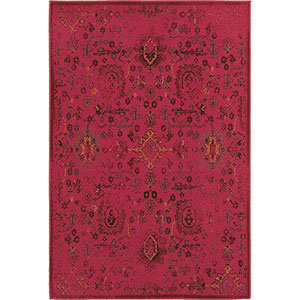 Revival Pink Rectangular: 1 Ft. 10-Inch x 3 Ft. 3-Inch  Rug