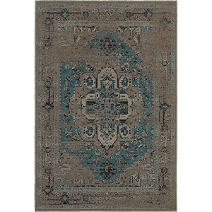 Revival Gray Round: 7 Ft. 8-Inch x 7 Ft. 8-Inch  Rug