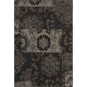 Revival Charcoal Rectangular: 1 Ft. 10-Inch x 3 Ft. 3-Inch  Rug