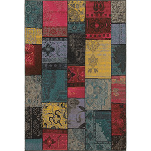 Revival Multicolor Rectangular: 5 Ft. 3-Inch x 7 Ft. 6-Inch  Rug
