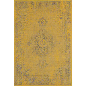 Revival Yellow Rectangular: 5 Ft. 3-Inch x 7 Ft. 6-Inch  Rug
