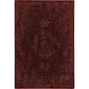 Revival Red Rectangular: 5 Ft. 3-Inch x 7 Ft. 6-Inch  Rug