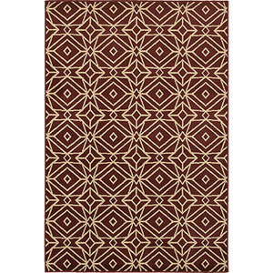 Stratton Red and Ivory Rectangular: 2 Ft. x 3 Ft. Rug
