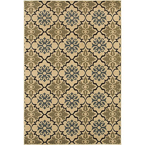 Stratton Blue and Green Rectangular: 2 Ft. x 3 Ft. Rug
