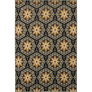 Stratton Blue and Brown Rectangular: 2 Ft. x 3 Ft. Rug