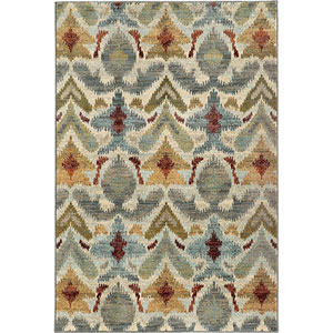 Sedona Ivory and Gray Rectangular: 6 Ft. x 9 Ft. Rug
