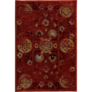 Sedona Red and Gold Rectangular: 2 Ft. x 3 Ft. Rug