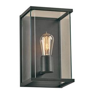 Dreiden Bronze One-Light Outdoor Wall Mount with Clear Glass