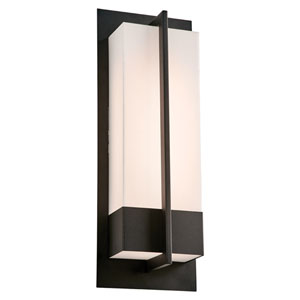 Brecon Black 20-Inch LED Outdoor Wall Mount with Opal Acrylic Lens