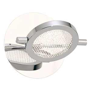 Ariella Polished Chrome LED Wall Sconce with Crystal Infused Glass
