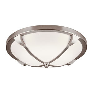 Adivina Satin Nickel 14-Inch LED Flush Mount with Opal Acrylic Glass