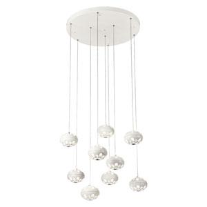 Rosini White Nine-Light LED Pendant