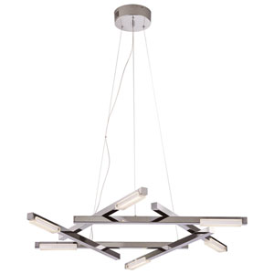 Lucette Polished Chrome LED Pendant with Frost Acryclic Lens