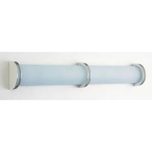 Chevron Two-Light Satin Nickel Vanity Light with Acid Frost Glass- Halogen