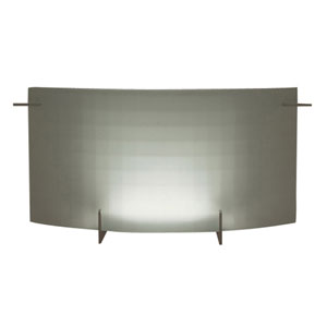 Contempo Two-Light Polished Chrome Vanity Light with Checkered Acid Frost Glass -Halogen