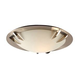 Paralline Satin Nickel One-Light Flush Mount