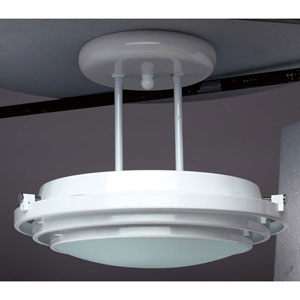 Cascade Polished Brass 13-Inch LED Semi-Flush Mount