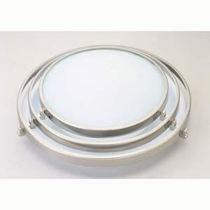 Cascade Large Satin Nickel Flush Mount