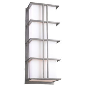 Amore Silver 16-Inch One-Light Outdoor Wall Sconce
