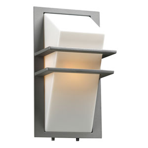 Juventus One-Light Silver Outdoor Wall Light