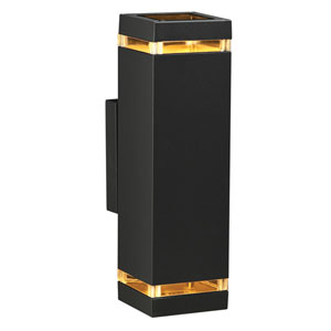 Porto-II Two-Light Bronze Outdoor Wall Light
