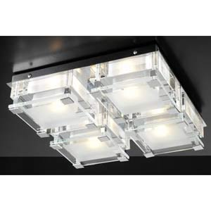 Corteo Polished Chrome Flush Mount Ceiling Light