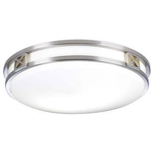 Serena Satin Nickel 16-Inch LED Flush Mount