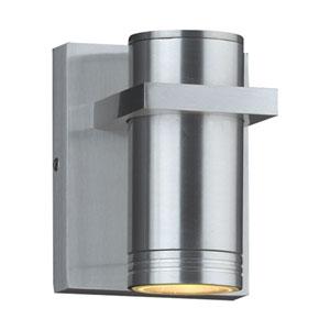 Boardwalk-I Brushed Aluminum 4-Inch LED Outdoor Wall Lantern