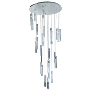Segretto 25-Light Polished Chrome Pendant with K9 Optic Crystal Glass -Halogen