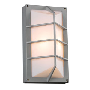 Expo One-Light Silver Outdoor Wall Light