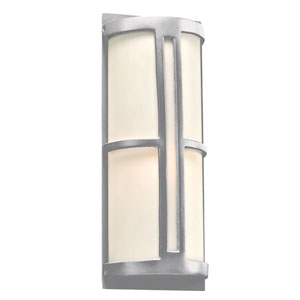 Rox Silver 7-Inch LED Outdoor Wall Lantern