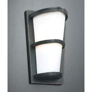 Alegria Small Oil Rubbed Bronze Outdoor Wall Mount Light