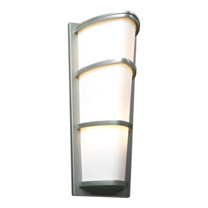 Alegria Two-Light Silver Outdoor Wall Light