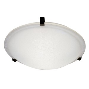 Nuova Rust 20-Inch Wide One-Light Flush Mount with Frost Glass