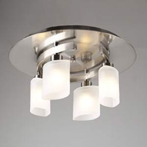 Wyndham Satin Nickel Flush Mount Ceiling Light
