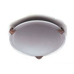 Valencia One-Light Polished Chrome Close to Ceiling Light Fixture with Marbleized Glass -Halogen