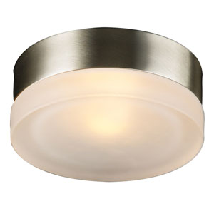 Metz One-Light Satin Nickel Wall with Frost Glass -Halogen