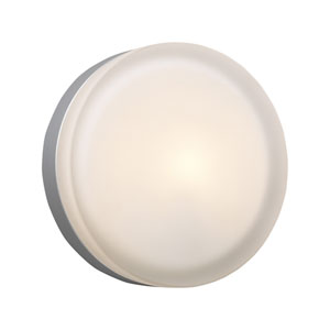 Metz Satin Nickel 9-Inch LED Wall Sconce and Flush Mount