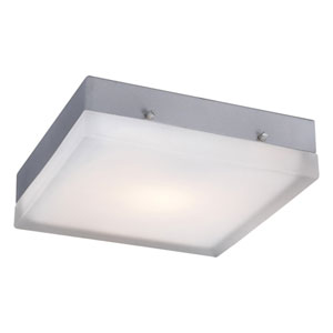 Praha Satin Nickel 9-Inch LED Wall Sconce and Flush Mount