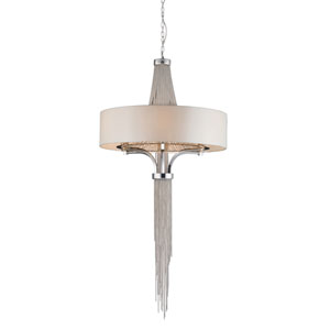 Trestle Eight-Light Polished Chrome Pendant