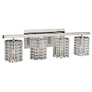 Rigga Four-Light Polished Chrome Vanity Light with Asfour Handcut Crystal Glass